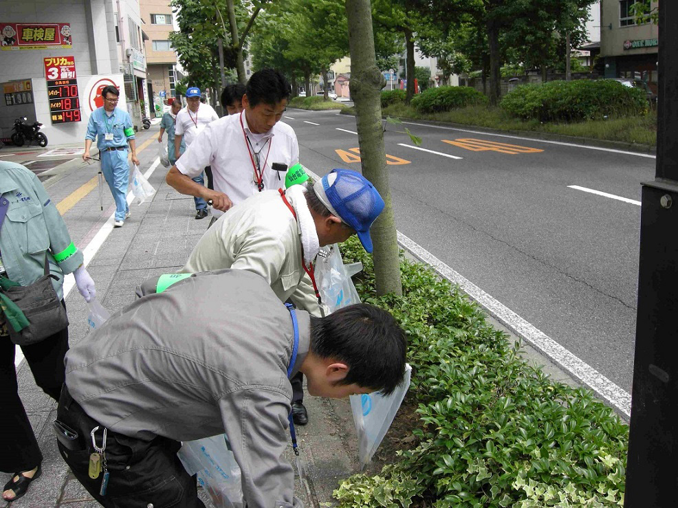「仙台七夕まつり」に向けた環境美化活動